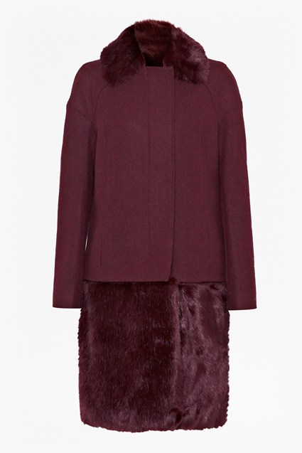 Foxy Faux Fur Detachable Coat