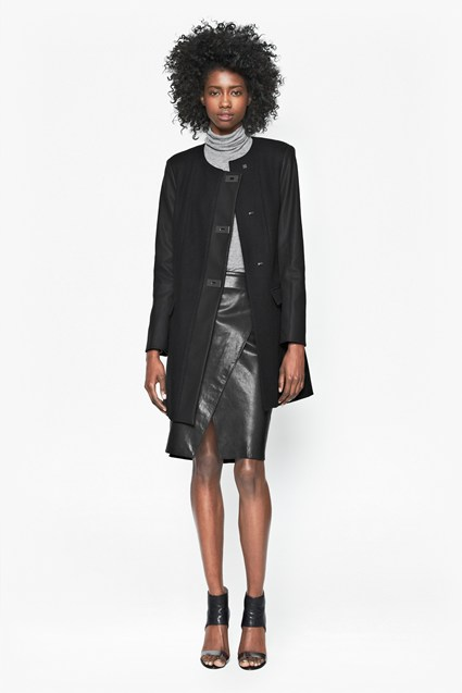 Carrie Contrast Sleeve Coat