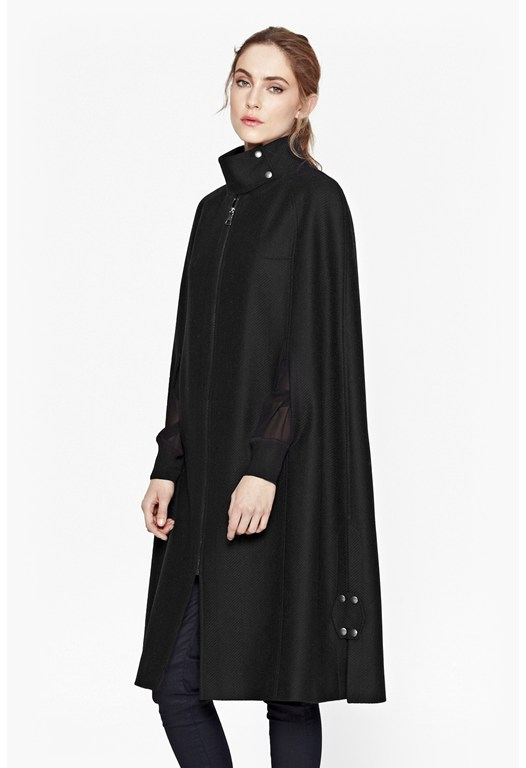 Winter Night Wool Cape