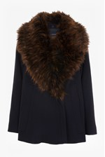 Looks Great With Mia Oversized Wool and Faux Fur Jacket