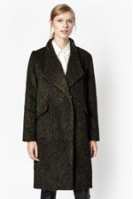 Looks Great With Tyler Wrap-Over Oversized Wool Coat