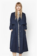Looks Great With Runaway Drape Maxi Coat