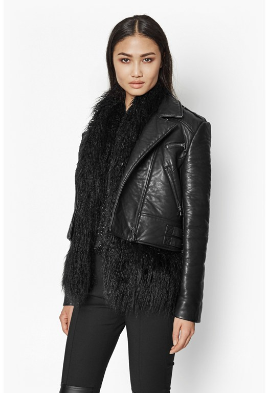 Chicago Faux Fur And Leather Jacket