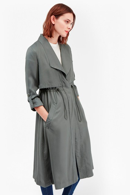 Kruger Tencel Oversized Trench Coat