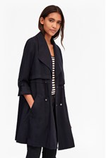 Looks Great With Kruger Tencel Short Trench Coat