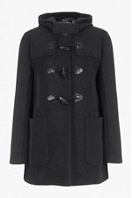 Looks Great With Teddy Check Hooded Duffle Coat