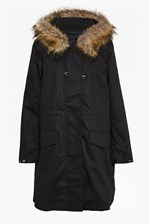 Looks Great With Cocoon Cotton Hooded Longline Parka