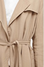 Looks Great With Sidewalk Drape Belted Duster Coat