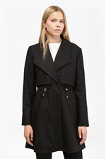Looks Great With Runaway Wool Drawstring Detail Coat