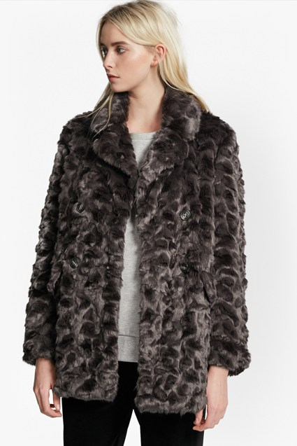 Nariko Fur Double Breast Coat