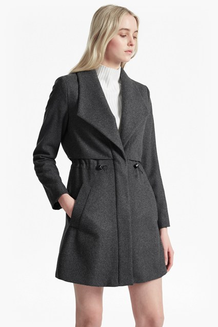 Runaway Wool Short Flared Coat