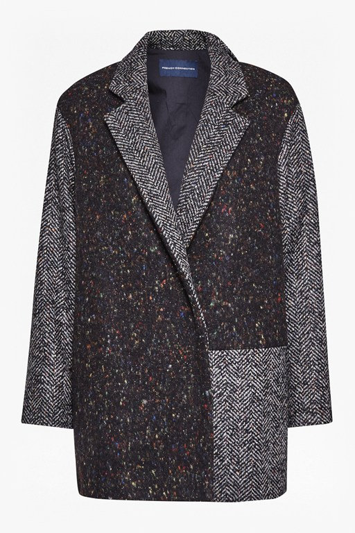 Complete the Look Terence Tweed Patch Cocoon Coat