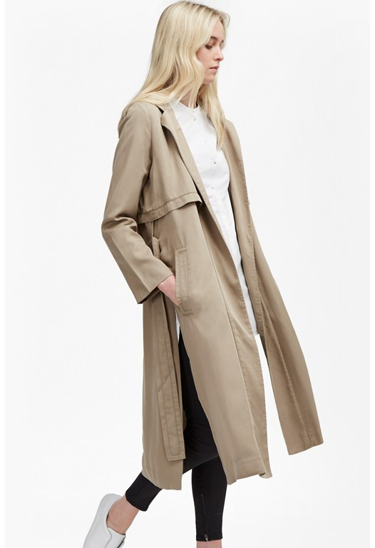 Hamilton Tencel Hooded Maxi Coat