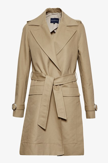 Lesley Cotton Oversized Trench Coat