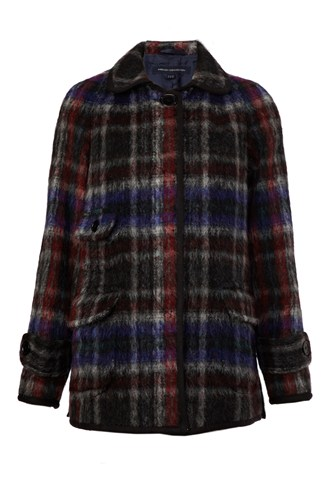 French Connection Highland Check Coat Misc