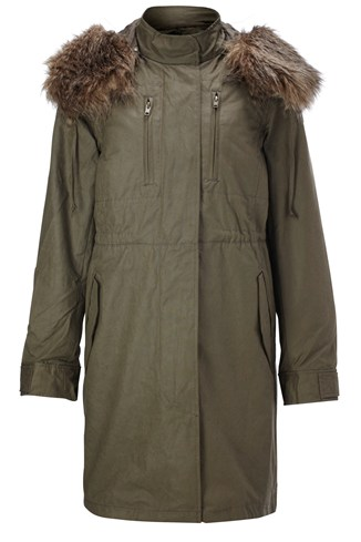 French Connection Military Moments Parka Coat