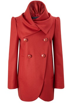 French Colour Wool Blend Fluted Coat