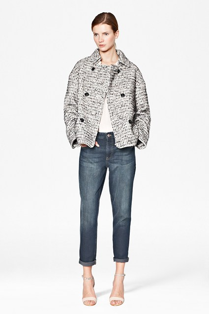 Electric Checked Boucle Coat