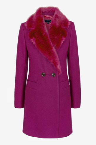 Salsa Faux Fur Collar Coat