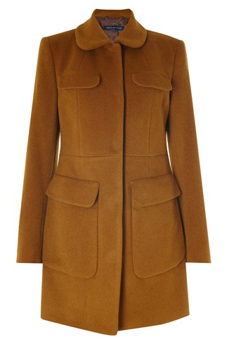Wool And Mohair Blend Coat Brown