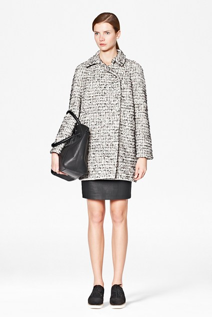 Electric Checked Oversized Boucle Coat