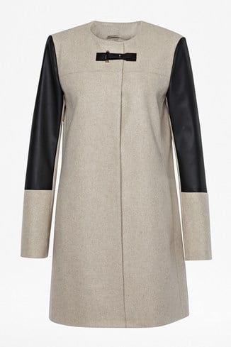 Sophie Contrasting Collarless Coat