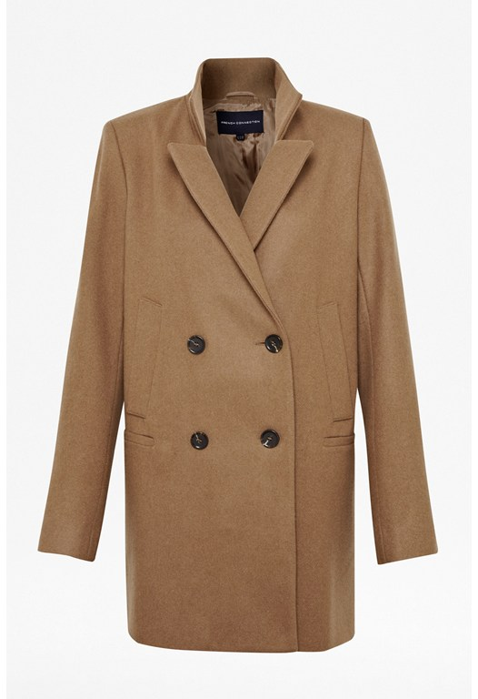 Nico Wool-Blend Collared Coat