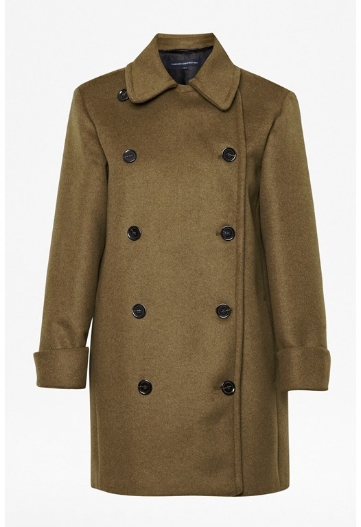 Desert Double-Breasted Wool Coat