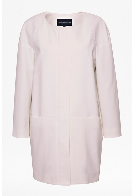 Cottage Cotton Collarless Coat