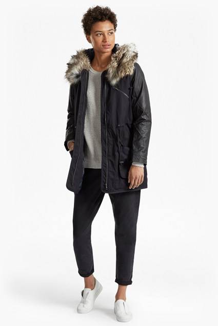 Snow Rhumba Faux Fur Hooded Coat