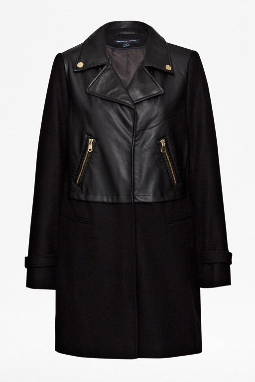 Complete the Look Moto Leather Wool Coat
