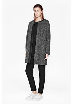 Alexandra Coating Collarless Coat