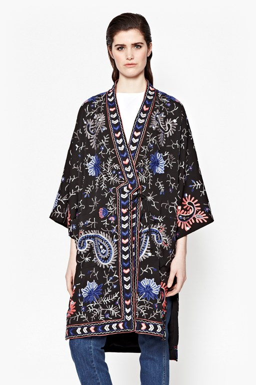 Complete the Look Micheala Stitch Embroided Kimono