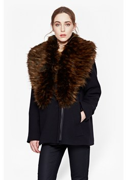 Mia Oversized Wool and Faux Fur Jacket