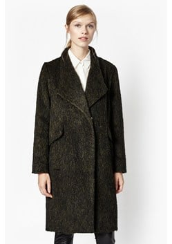 Tyler Wrap-Over Oversized Wool Coat