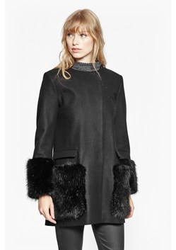 Madison Wool Faux Fur Coat