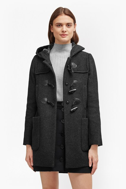 Teddy Check Hooded Duffel Coat