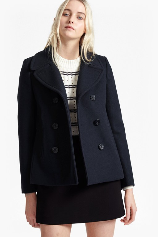 sailor wool double breast coat