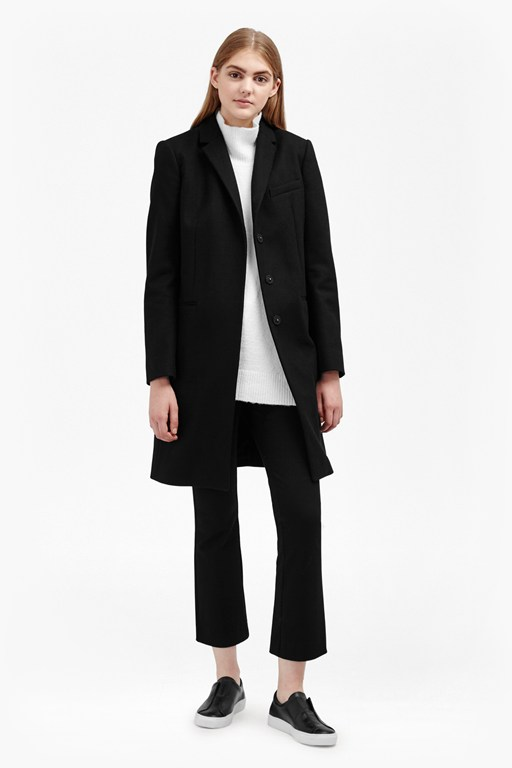 Complete the Look Platform Felt Wool Coat