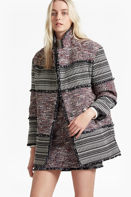 Pixel Mix Cotton Coat