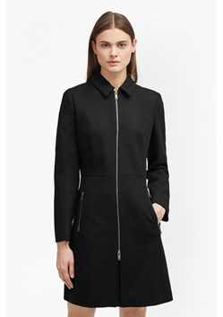 Platform Felt Zip Through Coat