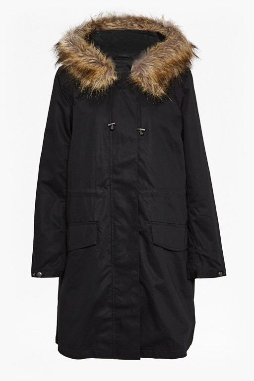 Complete the Look Cocoon Cotton Hooded Longline Parka
