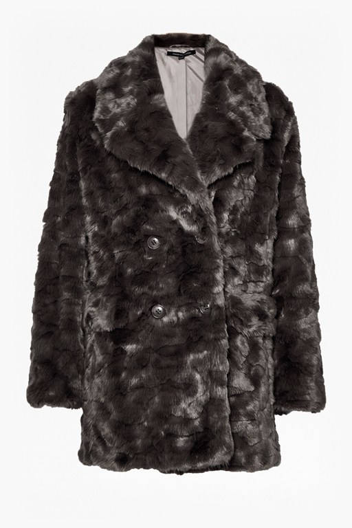 Complete the Look Nariko Fur Double Breast Coat
