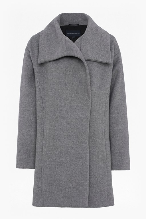 bennie wool wide collar coat