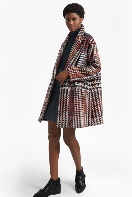 Beverley Check Long Sleeved Coat
