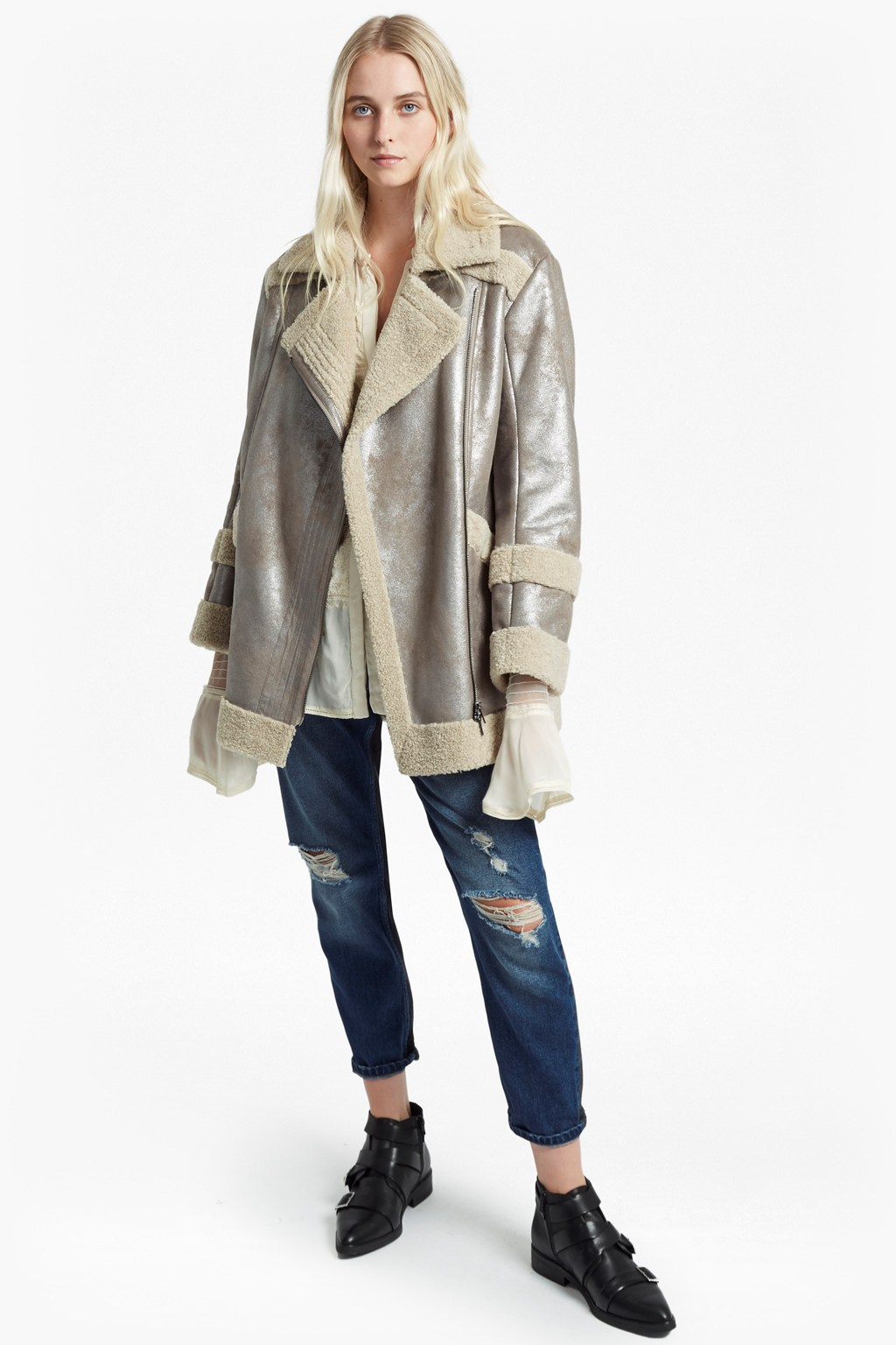 9e9d0d0f7bb1 Zelda Shearling Coat   Collections   French Connection