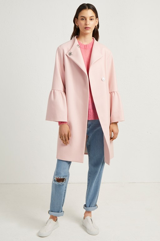 Complete the Look Platform Felt Bell Sleeve Coat
