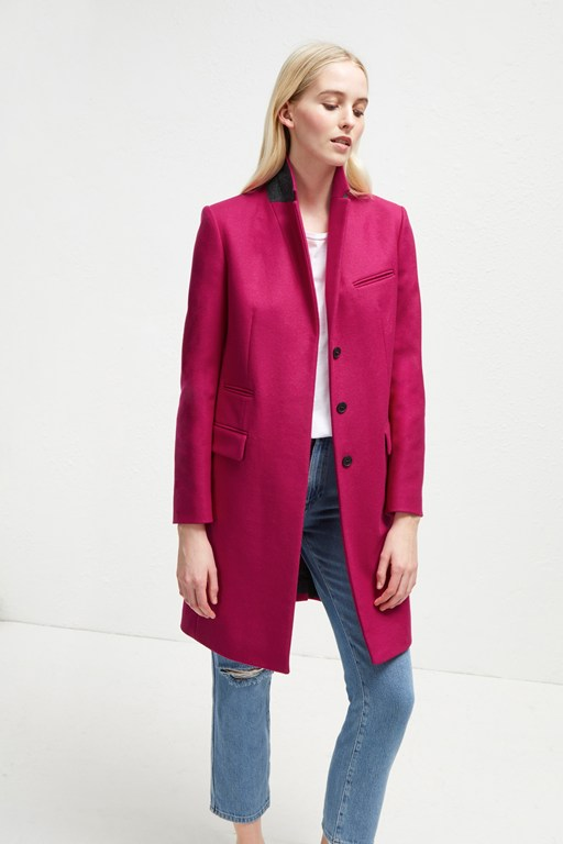 Low Stock Platform Felt Smart Coat