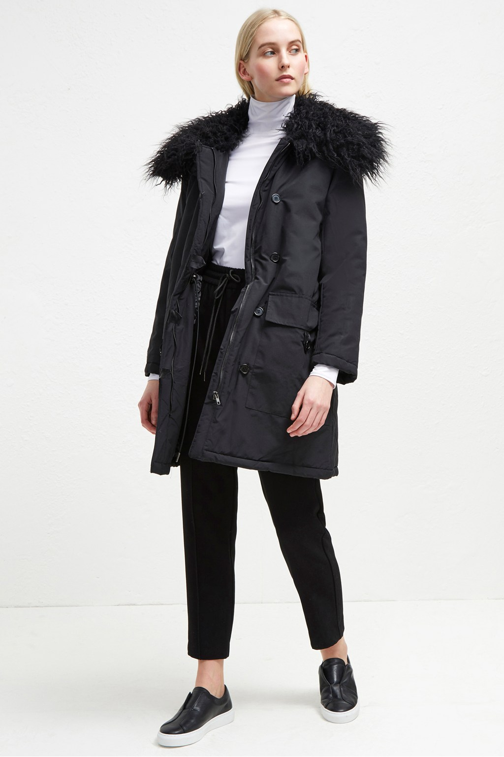 a645242cef1b Marlow Utility Faux Fur Collar Parka   Collections   French Connection