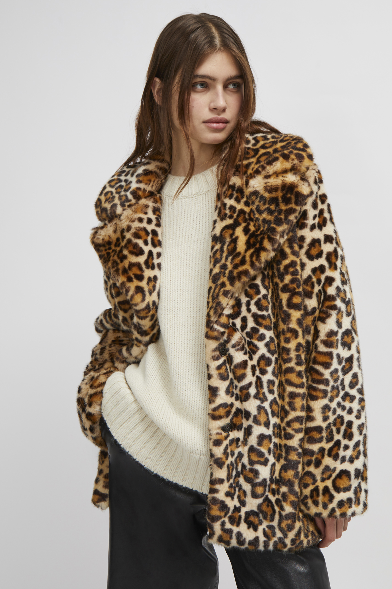 c3e95b9af Leopard Print Faux Fur Coat | Collections | French Connection